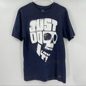 "Men's Blue Skull ""Just Do It"" T Shirt"